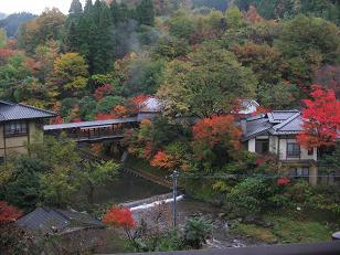 黒川温泉の紅葉